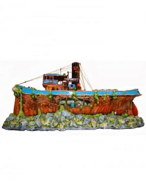 Ornamento Artificial Barco Cargueiro - B21