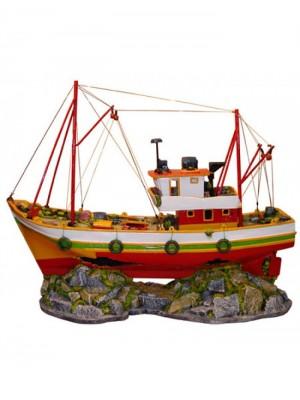 Ornamento Artificial Barco de Pesca - B26