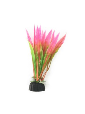 Soma Planta Plástica Rosa e Verde 10cm (053273)