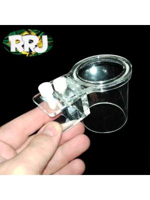 RRJ Alimentador manual com retentor tubo 50 mm - Altura 7 cm