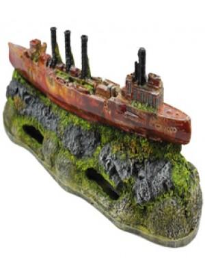 Ornamento Artificial Barco Canhoneira - B11