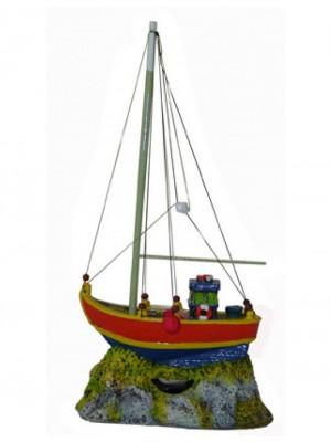 Ornamento Artificial Barco Rede Mini - B33