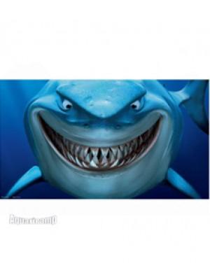 "(NMBG5) Painel decorativo temático Disney / Pixar ""Procurando Nemo"" Bruce - 50x30"