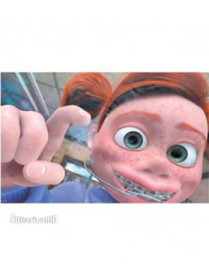 "(NMBG3) Painel decorativo temático Disney / Pixar ""Procurando Nemo"" Darla - 50x30"