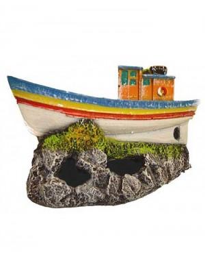 Ornamento Artificial Barco Pesqueiro - B07