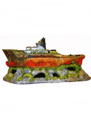 Ornamento Artificial Barco Rebocador - B13