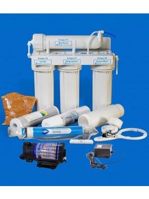 Kit Reverse Osmose 100 GPD  C/ Bomba