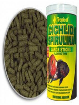 Tropical Cichlid Spirulina Sticks Large Sticks 75G
